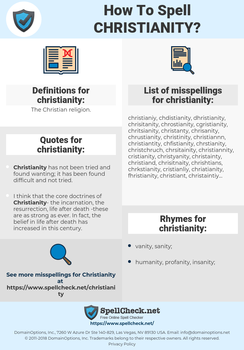 christianity, spellcheck christianity, how to spell christianity, how do you spell christianity, correct spelling for christianity