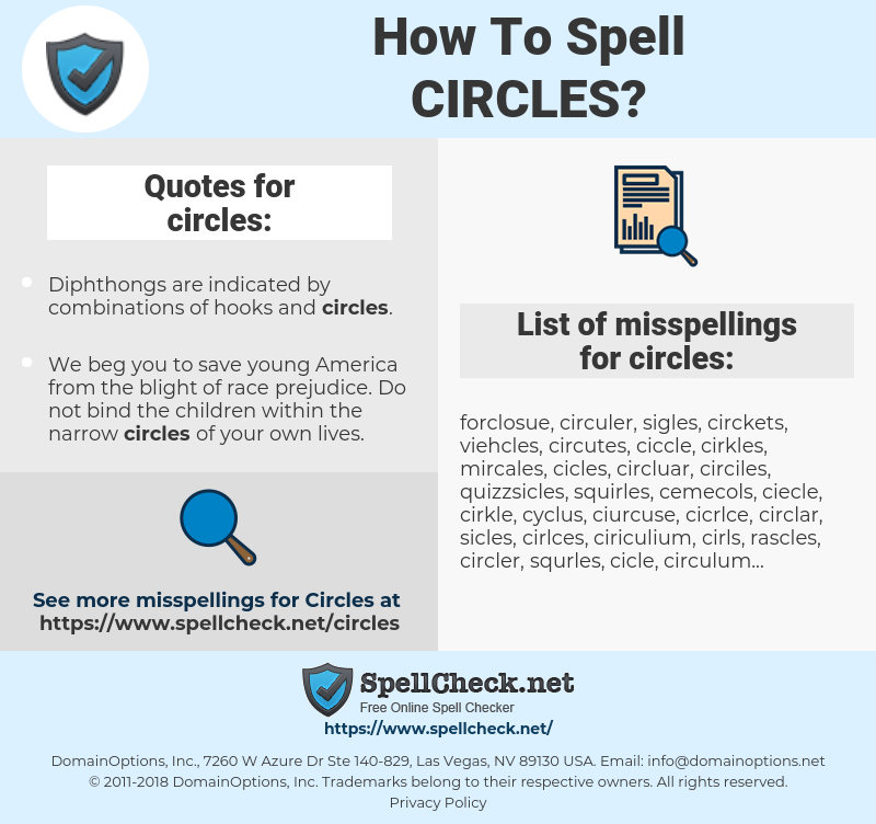 circles, spellcheck circles, how to spell circles, how do you spell circles, correct spelling for circles