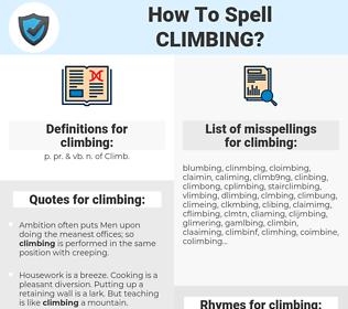 climbing, spellcheck climbing, how to spell climbing, how do you spell climbing, correct spelling for climbing
