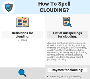clouding, spellcheck clouding, how to spell clouding, how do you spell clouding, correct spelling for clouding