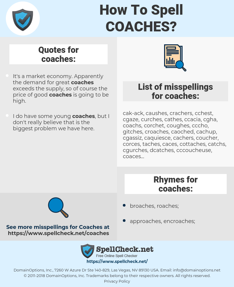 coaches, spellcheck coaches, how to spell coaches, how do you spell coaches, correct spelling for coaches