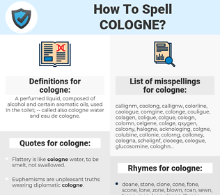 cologne, spellcheck cologne, how to spell cologne, how do you spell cologne, correct spelling for cologne