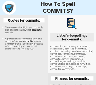 commits, spellcheck commits, how to spell commits, how do you spell commits, correct spelling for commits