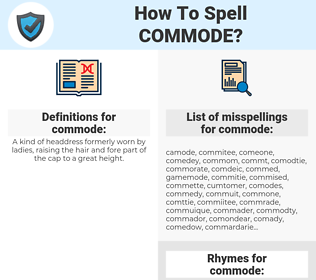 commode, spellcheck commode, how to spell commode, how do you spell commode, correct spelling for commode