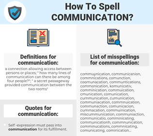 communication, spellcheck communication, how to spell communication, how do you spell communication, correct spelling for communication