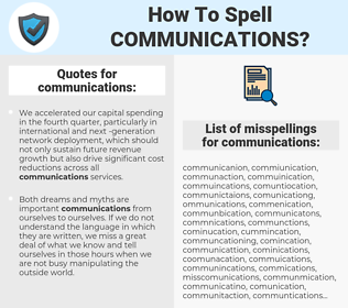 communications, spellcheck communications, how to spell communications, how do you spell communications, correct spelling for communications