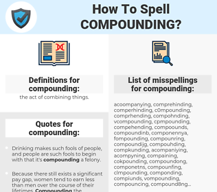 compounding, spellcheck compounding, how to spell compounding, how do you spell compounding, correct spelling for compounding