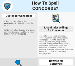 Concorde, spellcheck Concorde, how to spell Concorde, how do you spell Concorde, correct spelling for Concorde