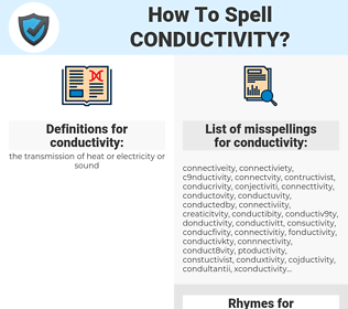 conductivity, spellcheck conductivity, how to spell conductivity, how do you spell conductivity, correct spelling for conductivity