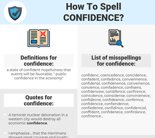 confidence, spellcheck confidence, how to spell confidence, how do you spell confidence, correct spelling for confidence