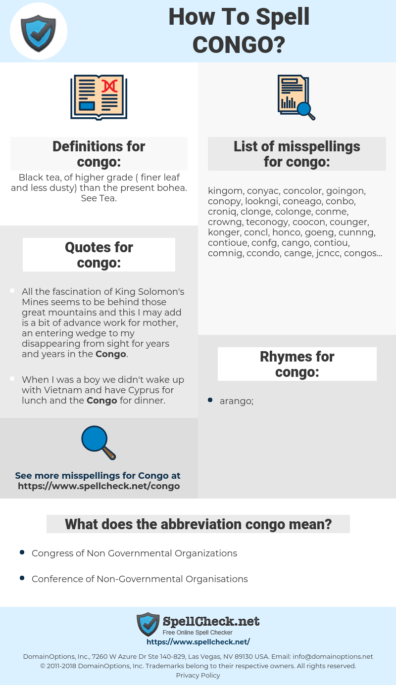 congo, spellcheck congo, how to spell congo, how do you spell congo, correct spelling for congo