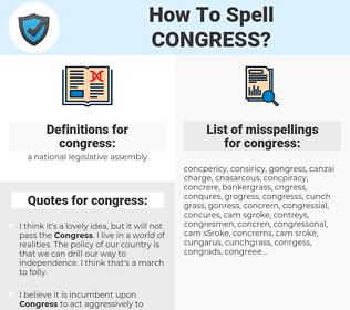 congress, spellcheck congress, how to spell congress, how do you spell congress, correct spelling for congress