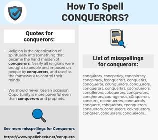 conquerors, spellcheck conquerors, how to spell conquerors, how do you spell conquerors, correct spelling for conquerors