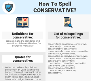 conservative, spellcheck conservative, how to spell conservative, how do you spell conservative, correct spelling for conservative