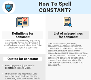 constant, spellcheck constant, how to spell constant, how do you spell constant, correct spelling for constant