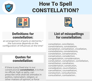 constellation, spellcheck constellation, how to spell constellation, how do you spell constellation, correct spelling for constellation