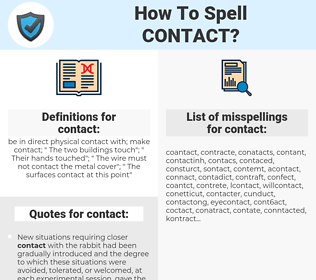 contact, spellcheck contact, how to spell contact, how do you spell contact, correct spelling for contact