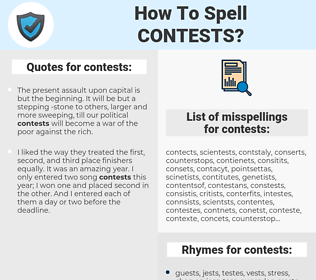 contests, spellcheck contests, how to spell contests, how do you spell contests, correct spelling for contests