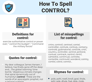 control, spellcheck control, how to spell control, how do you spell control, correct spelling for control