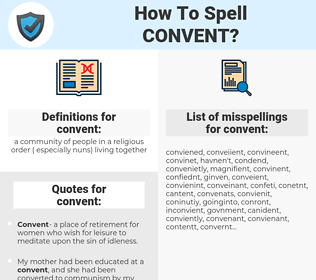 convent, spellcheck convent, how to spell convent, how do you spell convent, correct spelling for convent