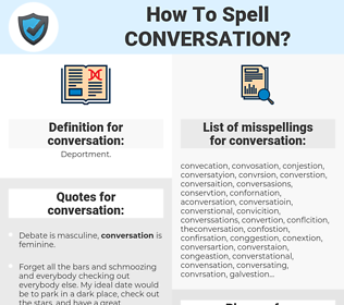 conversation, spellcheck conversation, how to spell conversation, how do you spell conversation, correct spelling for conversation