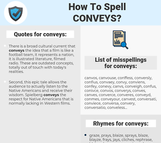 conveys, spellcheck conveys, how to spell conveys, how do you spell conveys, correct spelling for conveys