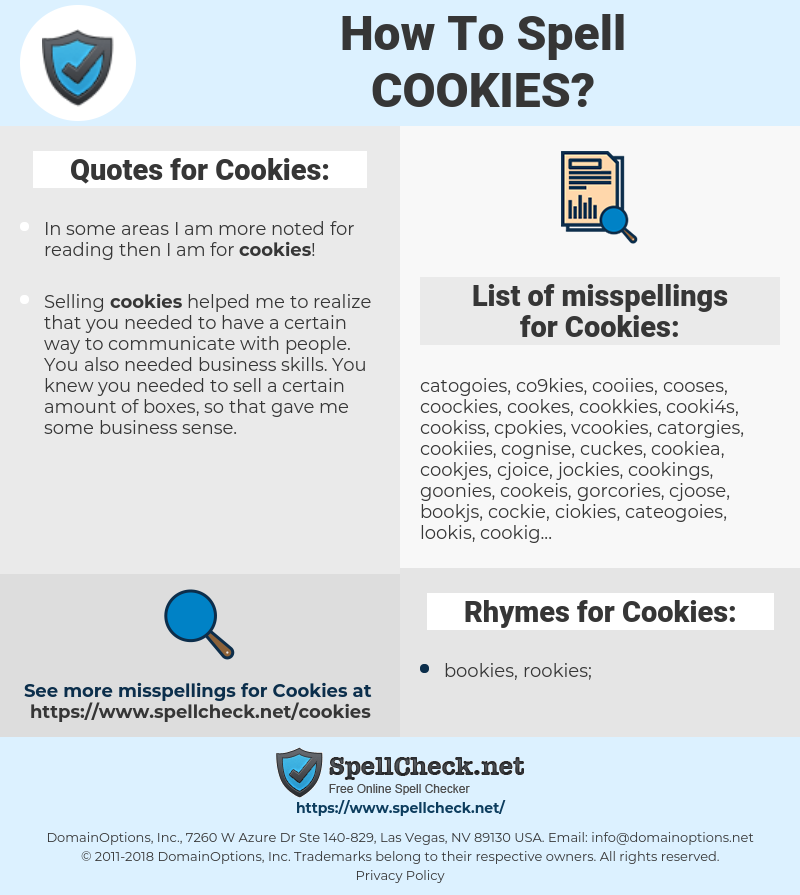 How To Spell Cookies (And How To Misspell It Too