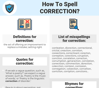 correction, spellcheck correction, how to spell correction, how do you spell correction, correct spelling for correction
