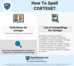cortege, spellcheck cortege, how to spell cortege, how do you spell cortege, correct spelling for cortege