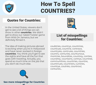 Countries, spellcheck Countries, how to spell Countries, how do you spell Countries, correct spelling for Countries