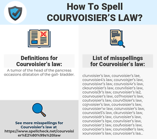 Courvoisier's law, spellcheck Courvoisier's law, how to spell Courvoisier's law, how do you spell Courvoisier's law, correct spelling for Courvoisier's law