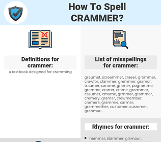crammer, spellcheck crammer, how to spell crammer, how do you spell crammer, correct spelling for crammer