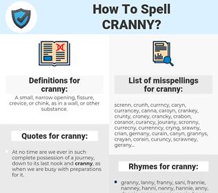 cranny, spellcheck cranny, how to spell cranny, how do you spell cranny, correct spelling for cranny