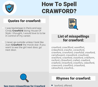crawford, spellcheck crawford, how to spell crawford, how do you spell crawford, correct spelling for crawford