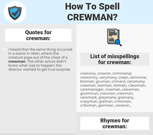crewman, spellcheck crewman, how to spell crewman, how do you spell crewman, correct spelling for crewman