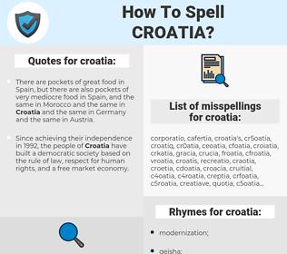 croatia, spellcheck croatia, how to spell croatia, how do you spell croatia, correct spelling for croatia