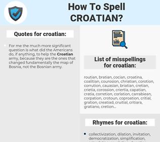 croatian, spellcheck croatian, how to spell croatian, how do you spell croatian, correct spelling for croatian