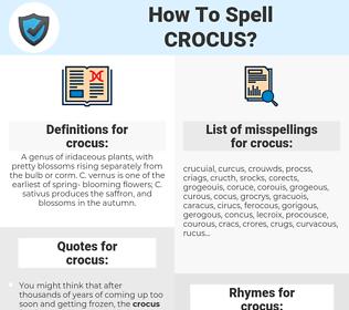 crocus, spellcheck crocus, how to spell crocus, how do you spell crocus, correct spelling for crocus