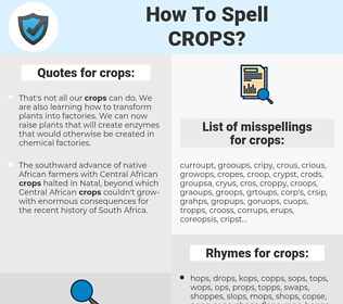 crops, spellcheck crops, how to spell crops, how do you spell crops, correct spelling for crops
