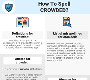 crowded, spellcheck crowded, how to spell crowded, how do you spell crowded, correct spelling for crowded