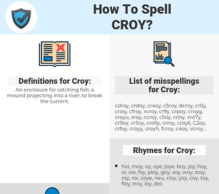 Croy, spellcheck Croy, how to spell Croy, how do you spell Croy, correct spelling for Croy