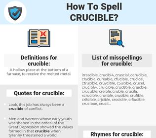 crucible, spellcheck crucible, how to spell crucible, how do you spell crucible, correct spelling for crucible