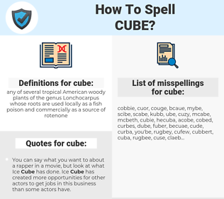 cube, spellcheck cube, how to spell cube, how do you spell cube, correct spelling for cube