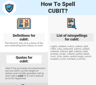 cubit, spellcheck cubit, how to spell cubit, how do you spell cubit, correct spelling for cubit