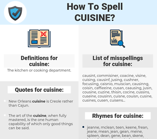 cuisine, spellcheck cuisine, how to spell cuisine, how do you spell cuisine, correct spelling for cuisine