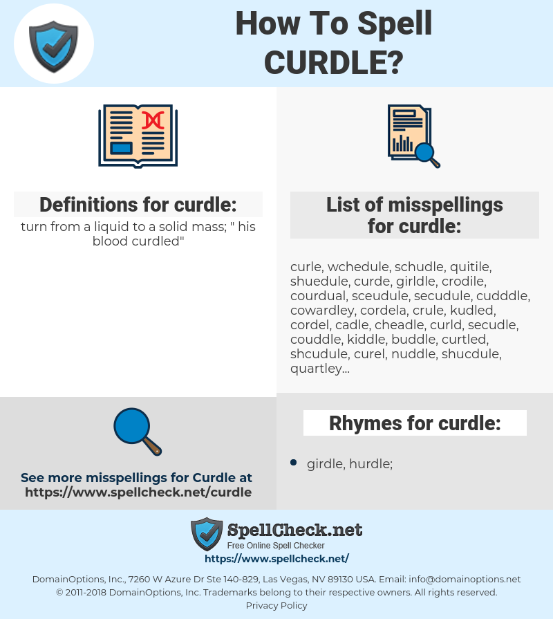 curdle, spellcheck curdle, how to spell curdle, how do you spell curdle, correct spelling for curdle
