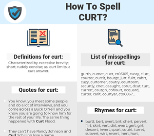 curt, spellcheck curt, how to spell curt, how do you spell curt, correct spelling for curt