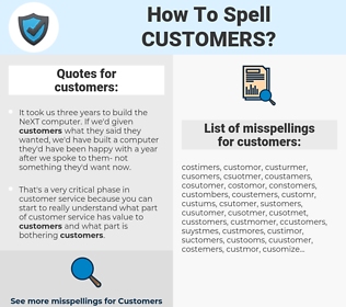customers, spellcheck customers, how to spell customers, how do you spell customers, correct spelling for customers
