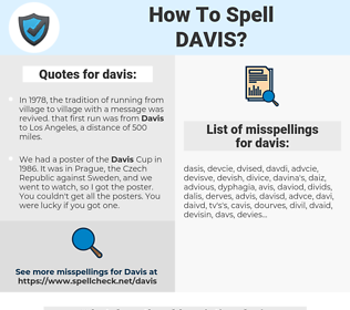 davis, spellcheck davis, how to spell davis, how do you spell davis, correct spelling for davis