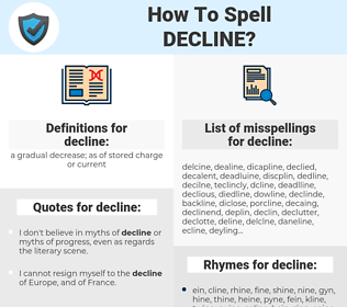 decline, spellcheck decline, how to spell decline, how do you spell decline, correct spelling for decline